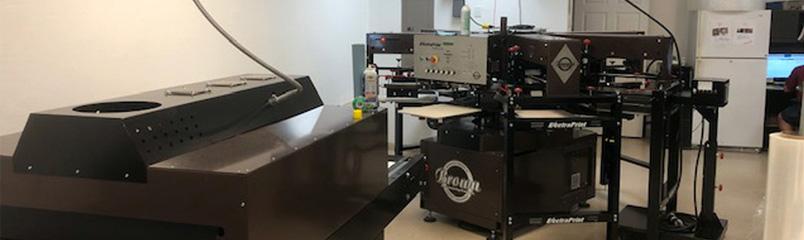 Silkscreen printing press